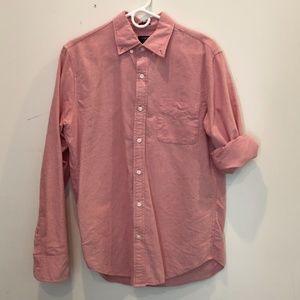 J. Crew Men's Medium Oxford Slim Salmon Shirt